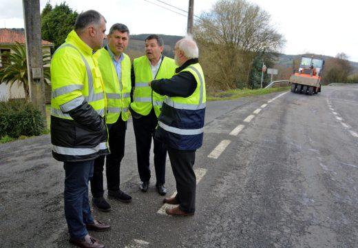 A Xunta inviste máis de 752.000 euros na reparación e reforzo do firme de tres estradas de once concellos da comarca coruñesa