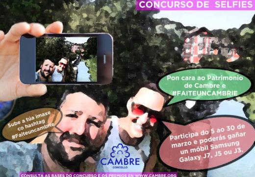 Cambre convoca la II Edición do concurso de selfies FAITE Un CAMBRIE
