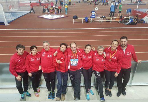 Os másters do Club Atlética A Silva-Ordes regresan con seis metais do Campionato de España de Pista Cuberta