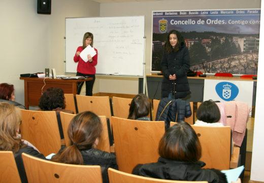 Benvida de Susana García ao alumnado do Celga II impartido polo SNL da Mancomunidade de Ordes