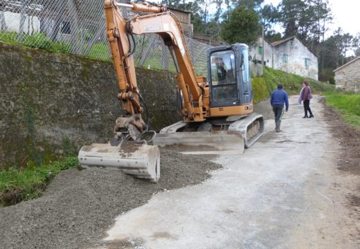 O Concello de Lousame inicia as obras de mellora no acceso a Berrimes, orzamentadas en case 14.000 euros