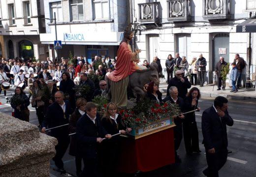 A procesión do Domingo de Ramos marca o inicio da Semana Santa en Ordes