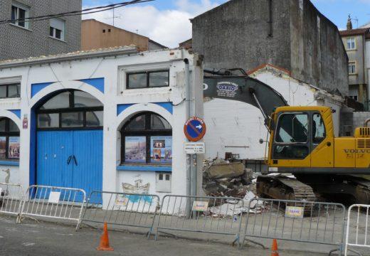 O Concello de Noia inicia a demolición do antigo inmoble do Museo do Mar