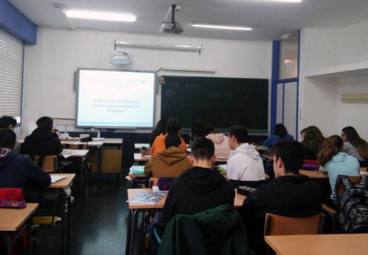 Obradoiros de educación para a prevención do consumo de drogas dirixidos ao alumnado de 4º da ESO do IES Cacheiras