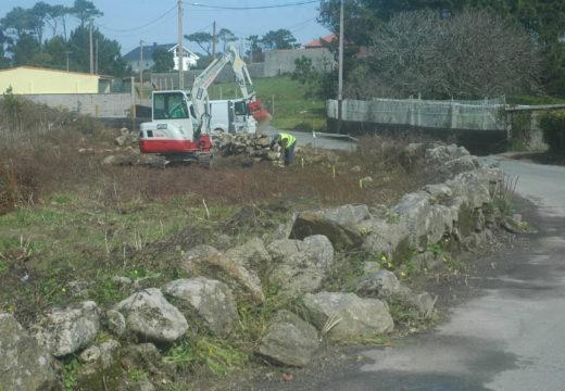 En marcha as obras de pavimentación e ampliación da rúa Faxinde en Castiñeiras