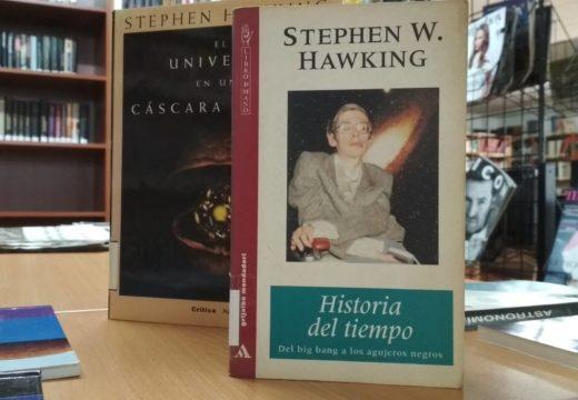 Exposición sobre Stephen Hawkin na Biblioteca de Riveira