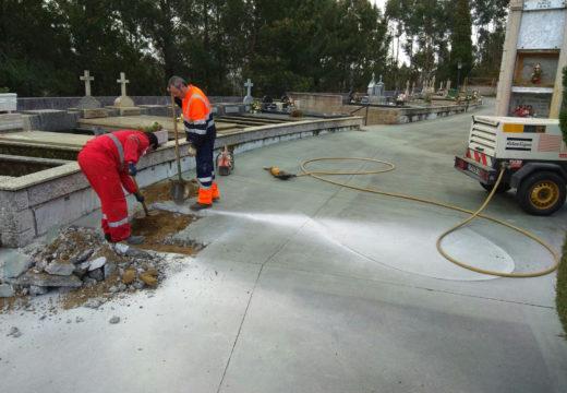 O Concello de Noia repara a avaría que deixara sen servizo de subministro de auga ao camposanto municipal do Páramo