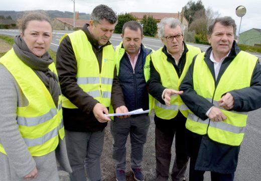 A Xunta incrementa a seguridade viaria da estrada AC-840, ao seu paso por Boimorto, mediante un investimento de casi 60.000 euros