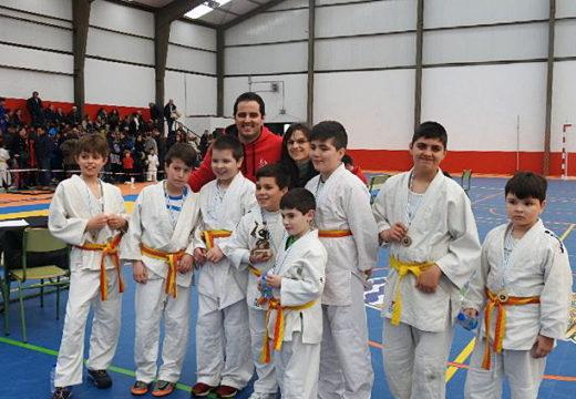 Máis de 200 rapaces e rapazas de entre 3 e 12 participaron onte na terceira edición do Campionato de Judo do Concello de Boqueixón