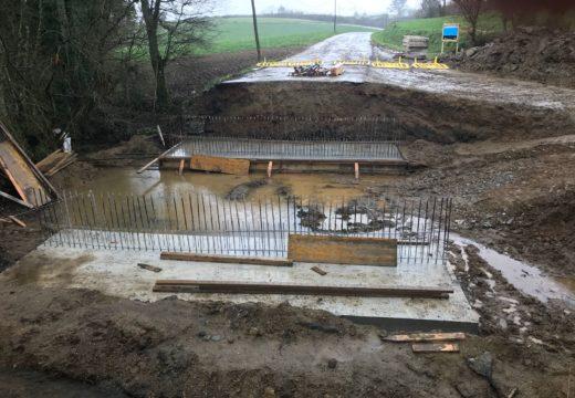 O Concello de Ordes inicia as obras de construción dunha nova ponte na parroquia de Lesta
