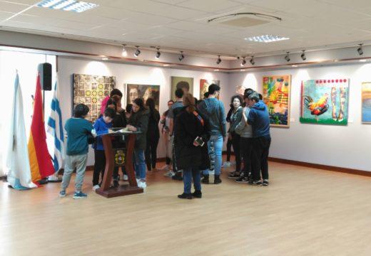 Corenta alumnos da Aula de Teatro do IES Número 1 visitan o Centro Lustres Rivas
