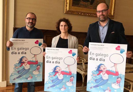 O alcalde recibe a Plataforma Queremos Galego