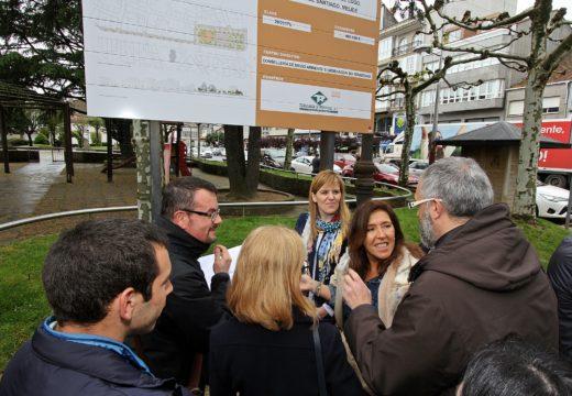 As obras de posta en valor do Cantón de San Roque e a Avenida de Lugo en Melide estarán rematadas este ano