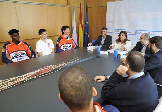 Medio Ambiente invita ao Leyma Basquet Coruña a dar o salto á economía circular a través da reciclaxe de envases