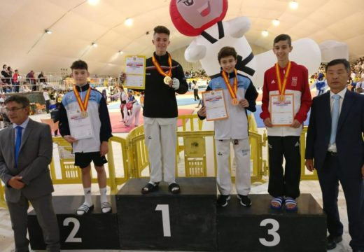 Manuel Castro Rodríguez, subcampión nacional de taekwondo na categoría cadete