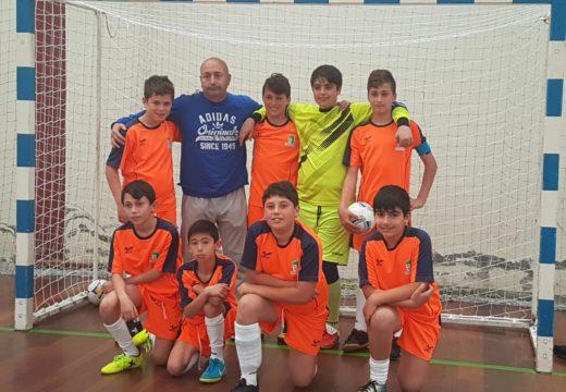 Os alevíns das escolas deportivas municipais de Brión gañan o Campionato Intercomarcal da Liga de Fútbol Sala en Idade Escolar