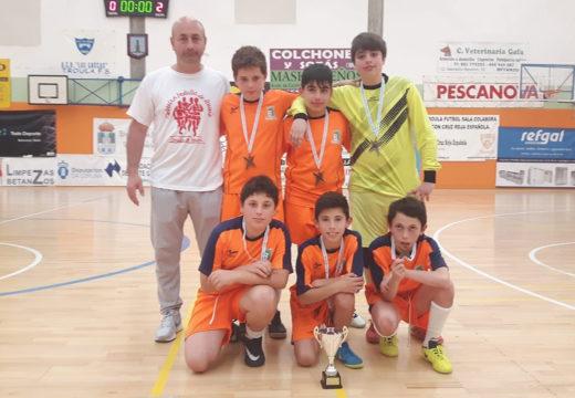 Os alevíns das EDM de Brión conseguen o terceiro posto no Campionato Provincial da Liga de Fútbol Sala Escolar