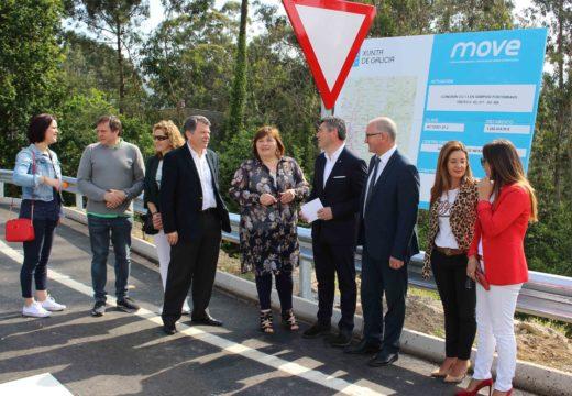 A Xunta adianta seis meses a posta en servizo da nova vía de conexión de Portobravo (Lousame) coa VAP Brión-Noia, na que se investiron de 1,3 millóns