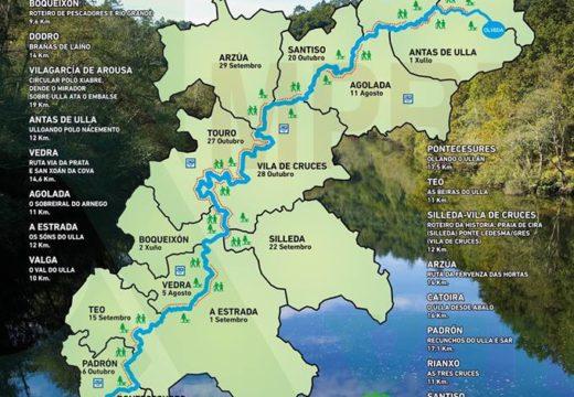 O programa 'Goza do Ulla 2018' ofrece vinte rutas pola beira do Ulla dende maio ata outubro
