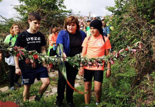 Teresa Villaverde inaugura a rehabilitación das escaleiras das Arribadas en Guiende