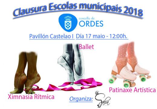 Este xoves exhibición e clausura dos cursos municipais de ballet, patinaxe artística e ximnasia rítmica