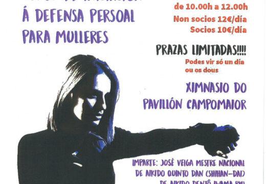 Segunda e última sesión do curso de iniciación á defensa persoal para mulleres