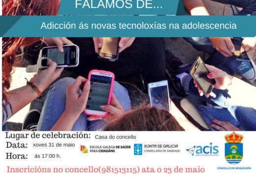 O Concello de Boqueixón organiza unha charla sobre adiccións ás novas tecnoloxías na adolescencia