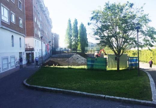 Comezan as obras de ampliación e reforma do Parque infantil da Barcala