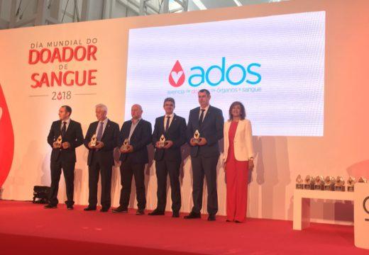 ADOS premia a Ordes no Día Mundial do Doante pola súa gran contribución en materia de doazón de sangue