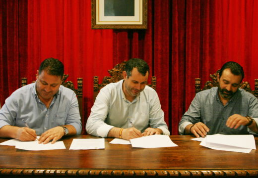Ordes, Frades e Mesía asinan o acordo para a solicitude do obradoiro de Emprego Brañas do Illó-Río Samo