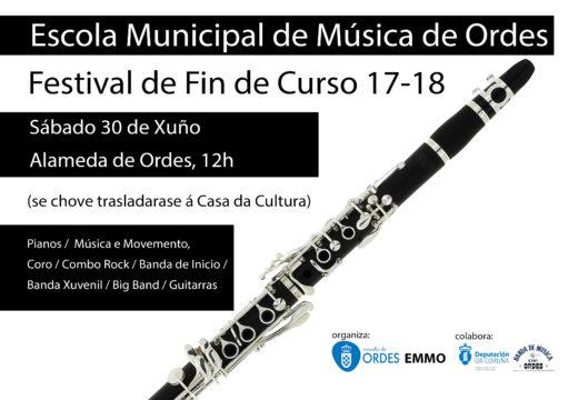 Concerto de fin de curso da Escola Municipal de Música