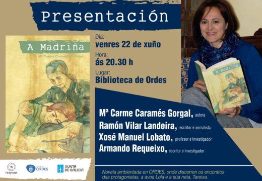 Venres a biblioteca de Ordes acollerá a presentación do libro 'A madriña'
