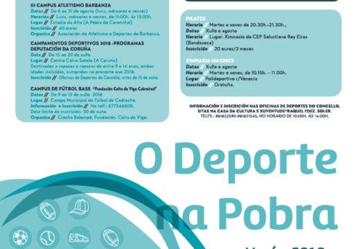 O DEPORTE NA POBRA – Verán 2018 -Obradoiros de Conciliación MÓVETE!!