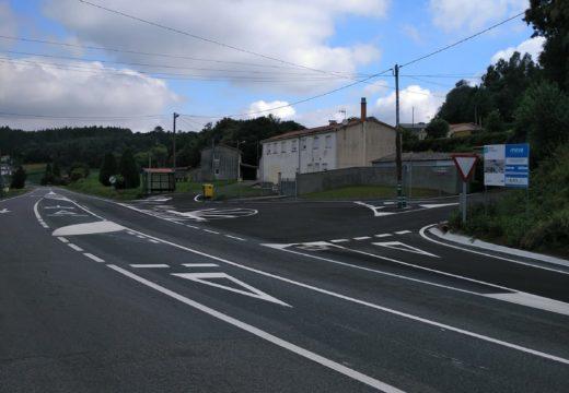 A Xunta remata as obras de mellora da seguridade viaria na estrada AC-840, ao seu paso polo concello de Boimorto