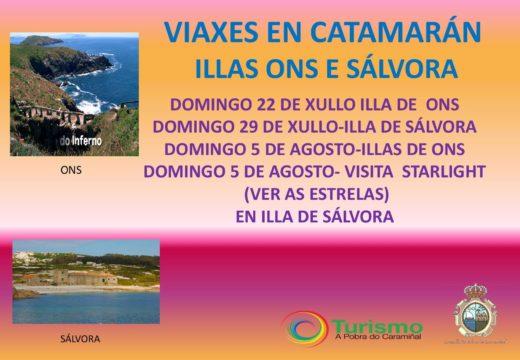 Dende o Departamento de Turismo da Pobra do Caramiñal informan que haberá rutas pola ría en veleiro dende o porto da Pobra do Caramiñal este verán