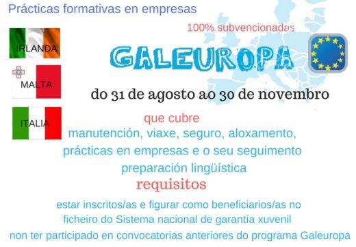 Os Concellos do Val do Ulla convocan una nova edición do programa Galeuropa