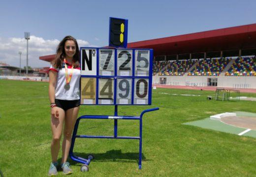 A ordense María Pena proclámase subcampioa de España Sub16 en lanzamento de xavelina