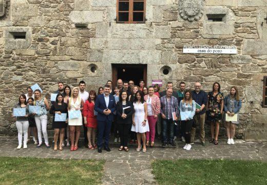 Os 20 alumnos do Obradoiro de Emprego de Santa Comba, Mazaricos e Dumbría formáronse en xardinería e promoción turística