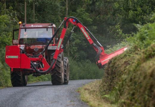 Unha primavera e un inicio de verán atípicos ralentizan os traballos de limpeza na rede viaria