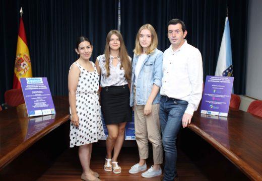 Dúas mozas europeas participarán no programa de voluntariado do Concello de Lousame durante nove meses