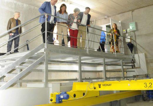 Medio Ambiente entrega o tanque de tormentas de Oleiros, a primeira das dúas obras que completarán o saneamento da ría