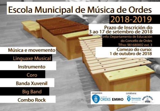 Ábrese o prazo de matrícula da Escola Municipal de Música para o curso 2018-19