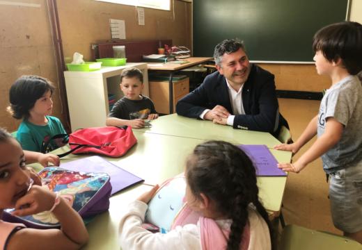 Ovidio Rodeiro visita o CEIP Recimil de Ferrol con motivo do inicio do curso 2018/2019 de Educación Infantil e Primaria