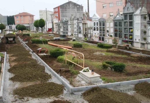 O Concello de Ordes inicia as obras de humanización do cemiterio municipal do Piñeiro