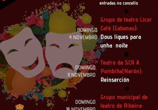 O Ciclo de Teatro de Outono do Concello de Boqueixón ofrecerá 5 representacións