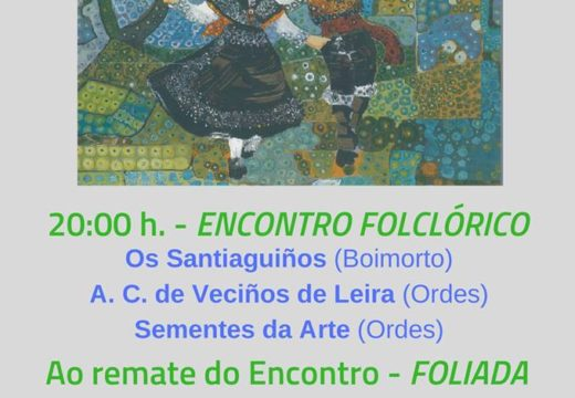 Novo encontro folclórico de Sementes da arte, este sábado na Casa da Cultura de Ordes