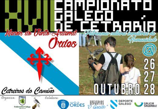 Ordes prepárase para acoller o XVII Campionato Galego de Cetrería