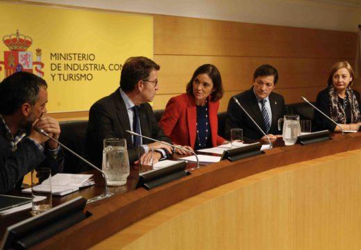 A Xunta e o Goberno Central acordan unha posición común para pedir a Alcoa que retire o ERE extintivo e un paquete de medidas para dar estabilidade á industria electrointensiva
