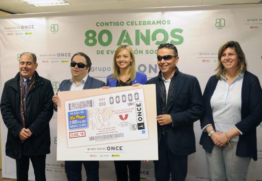 Fabiola García destaca o liderado de Galicia en participación social na presentación do cupón da ONCE conmemorativo do XX Congreso Estatal de Voluntariado