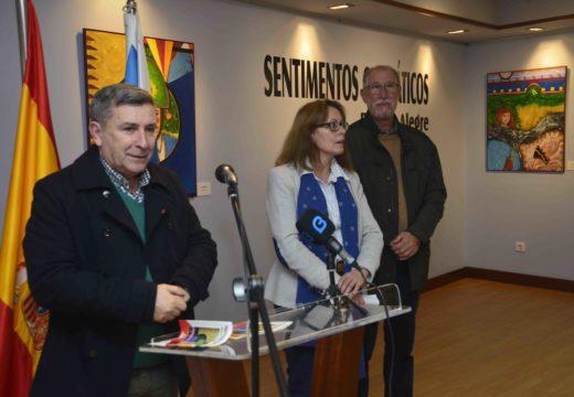 """As coloridas pinceladas do vigués Ramón Alegre exhíbense no Lustres Rivas coa exposición """"Sentimentos cromáticos"""""""